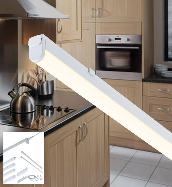 KNIGHTSBRIDGE UCLED4 LED UNDER CABINET STRIPLIGHT COOL WHITE